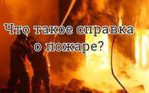 Что такое справка о пожаре?
