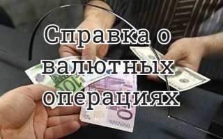 Что такое справка о валютных операциях?