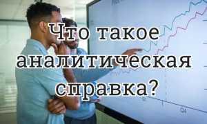 Что такое аналитическаясправка?